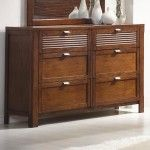$528.99  Coaster Furniture - Murray Contemporary Brown Wood 6-Drawer Dresser - 26201783