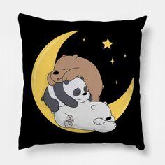 We Bare Bears - We Bare Bears - Pillow   TeePublic Floor Pillows, Throw Pillows, Best Friend Drawings, Cool School Supplies, We Bare Bears Wallpapers, 3 Bears, Presents For Boyfriend, Bear Wallpaper, Decorative Pillows