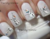 Frozen Olaf Nail Decals