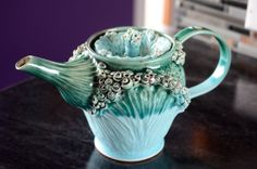 Hand Made // Wheel Thrown // Pottery Teapot by ClayChimera on Etsy, $170.00