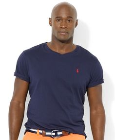 Polo Ralph Lauren Big and Tall Classic-Fit V-Neck Short-Sleeve Cotton Jersey T-Shirt