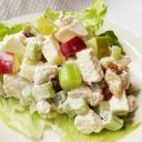 Confetti Turkey Salad Sandwich - The flavorful punch comes from crunchy fresh vegetables and dried sweetened cranberries.