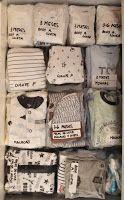 Como guardar e organizar o enxoval do bebê | Macetes de Mãe