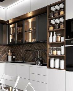 Kitchen Room Design, Modern Kitchen Design, Home Decor Kitchen, Kitchen Furniture, New Kitchen, Interior Design Living Room, Home Kitchens, Furniture Ideas, Kitchen Ideas