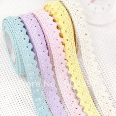 washi pastel lace tape - how good would this look?? Love it.
