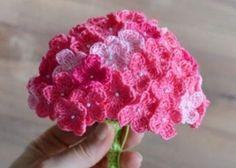 Crochet Hydrangea Flower Pattern Free Video Tutorial