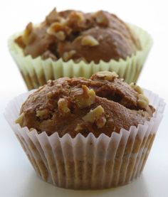 banana_walnut_muffins made using Atta. I used th cup atta and Maida. Using EnerG instead of applesauce. The end result was kinda dense. Need to tweak this a lil Bit. But the recipe has promise. Cheesecake Cupcakes, Cheesecake Brownies, Whole Wheat Muffins, Baby Food Recipes, Breakfast Recipes, Bakery, Banana, Cookies, Salsa Chicken