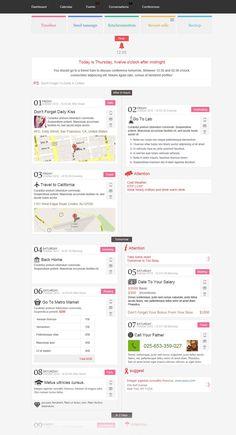 Timeline Events site design