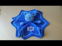 CROCHET: como tejer una manta ESTRELLA y de APEGO para BEBE (diestro) - YouTube Crochet For Kids, Free Crochet, Knit Crochet, Diy Manta, Bella Coco, Dou Dou, Baby Lovey, C2c, Crochet Animals