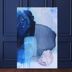Large art work // Large abstract art by Mette Lindberg // Store malerier af kunstner Mette Lindberg