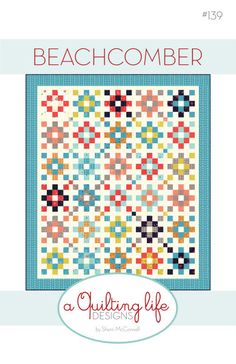 This listing is for the Beachcomber quilt pattern. The finished quilt measures 67 1/2 x 79 and is Jelly Roll friendly. The pattern is written so you
