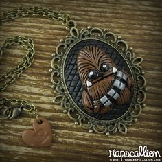 Chewbacca Inspired Cameo Necklace by rapscalliondesign on Etsy