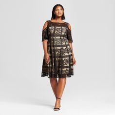 Women's Plus Size Lace Cold Shoulder Dress - Melonie T : Target