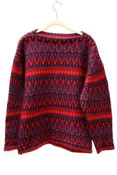 Vintage 60's Scandinavian Sweater .  Icelandic by VintageCommon