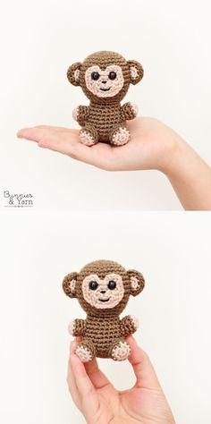Crochet Pattern - Monkey - Amigurumi Double Crochet, Single Crochet, Spanish Pattern, Cute Monkey, Sport Weight Yarn, Yarn Needle, Stitch Markers, Slip Stitch, Just Giving