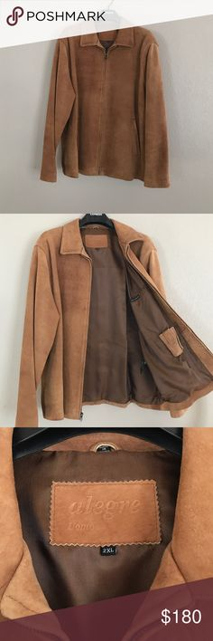 Men's Alegre Uomo N.Z Lam Skin Jacket size XL // good condition // comes in bag (see last pic) Jackets & Coats