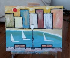 Montevideo, playa Pocitos *** Creado por Correa Stankevicaite