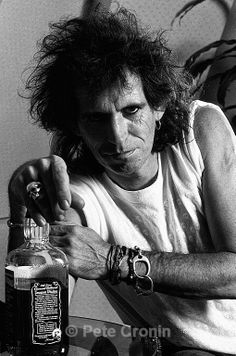 Keith Richards... how this man is still alive and kicking is beyond me. I think the drugs and hard liquor have embalmed him from the inside out!