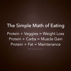 Math of Eating