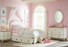 picture of Disney Princess Enchanted Kingdom White 5 Pc Twin Panel Bedroom  from Teen Bedroom Sets Furniture