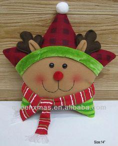 2013 santa navidad muñeco de nieve los patrones de renos cojín-imagen-Adornos navideños-Identificación del producto:757851312-spanish.alibab...