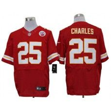 Nike Jamaal Charles Jersey Elite Team Color Red Kansas City Chiefs #25