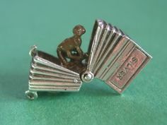 Vintage UK Sterling Silver Circus Accordion Charm Opens to Enameled Monkey | eBay