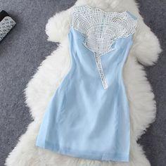 Lace Sleeveless Dress XQ62812
