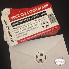 Convite ingresso de futebol / sobre cerrado con sticker de pelota