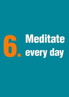 Successful people know the value of meditation