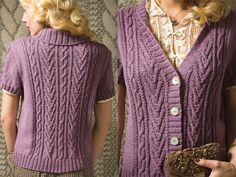 VK Fall 2012 Lilac Aran knit
