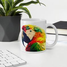 #print #art #scarlet #BestPresent #Girlfriend #Boyfriend #Mom #EveryDay #musthave #bestdeal #wild #naturelover #vegan #exotic #tropical #veganlife #office #coworkers #basket #holiday #funny #homedecor Ceramic Techniques, Parrot Bird, Pet Birds, Scarlet, Unique Gifts, Exotic, Boyfriend, Presents, Tropical