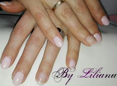 Verniz gel rosa bebé... Simple pink nails