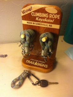 Climbing Rope Keychain by TrailSigns on Etsy For Tommy