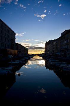 """- Trieste: """"Tramonto sul Canal Grande"""" - di Fabrizio 39"""
