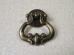 Gold White Drawer Pulls Hollywood Regency Ring Pulls French