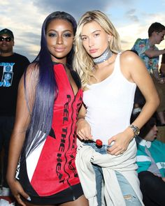 June 15: Hailey Baldwin and Justine Skye attending the Smoke X Mirrors Presents: Sodapop With Justine Skye in New York