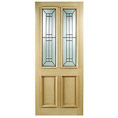 165893 - Wickes Malton External Oak Door Glazed 2 Panel 1981 X Front Entry, Entry Doors, Front Doors, Windows And Doors, External Timber Doors, Veneer Door, Fire Doors, Door Accessories, Modern Door