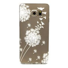 Colored Painting Ultrathin Soft TPU Back Case for Samsung Galaxy S6 Edge Plus G928 - Dandelion