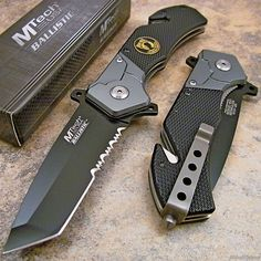 MTECH POW-MIA Tactical Tanto Spring Assisted Opening Rescue Folding Pocket Knife #MTech