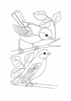 See More Simple Bird Coloring Pages