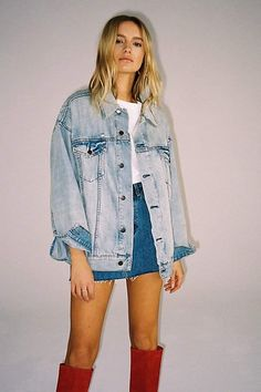 Levi's Baggy Denim Trucker Jacket by Levi's at Free People