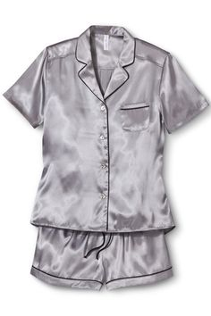 You shouldn't look like a slob, ever — even if you're just chillin' in your house.  Target Women's Satin Short Pajama Set, $24.99, available at Target.  From: Cool, Cozy Pajamas For A Night In — Or Out