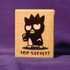Badtz Maru Wooden Rubber Stamp Never been used by stampersdelight, $6.50