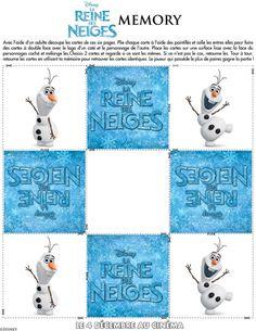 memory frozen Coloriages et cahier dactivités : La Reine des Neiges de Disney