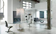 table de salle à manger à pied de design unique par Cattelan Italia