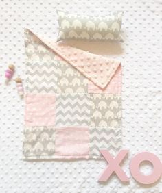 Patchwork Dolly Blanket and Cushion