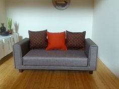 Dolls House Modern Handmade Sofa 1:12 with by AlicesMiniatures