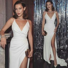V Neck White Maxi Dress with Split - V Neck White Maxi Dress with Split You are in the right place about Formelle kleider Here we offer - Gala Dresses, White Maxi Dresses, Red Carpet Dresses, Dance Dresses, Elegant Dresses, Sexy Dresses, Cute Dresses, Formal Dresses, Cute Outfits