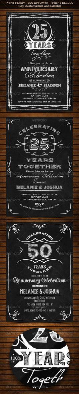 Golden Anniversary Invitation - anniversary invitation template